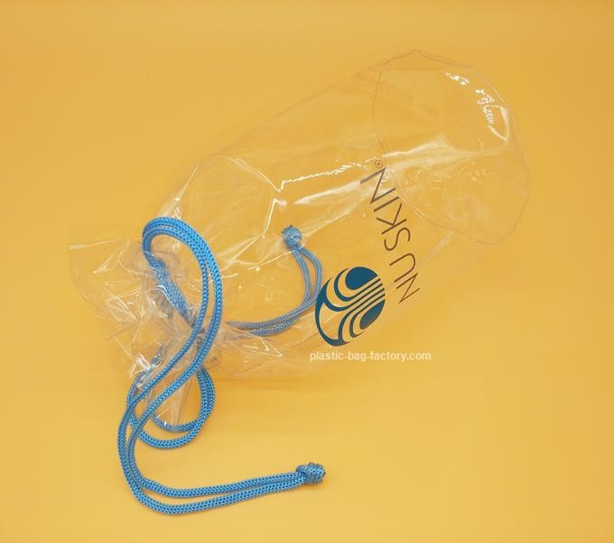 Soft Clear PVC drawstring Organizer Bag for Cosmetics, Personal belongings